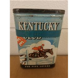 POCKET TOBACCO TIN (KENTUCKY CLUB)
