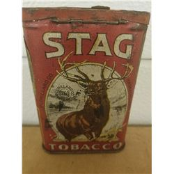 POCKET TOBACCO TIN (STAG) *GREAT GRAPHICS*