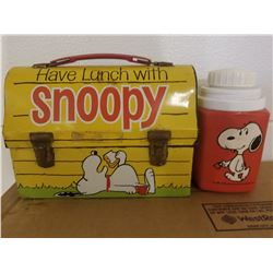 DOME LUNCH KIT W/THERMOS THAT HAS NO LID (SNOOPY)