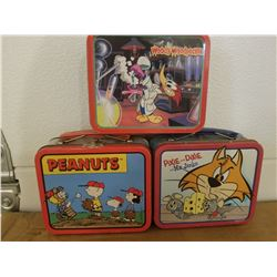 LUNCH TINS (3 MINIATURE COLLECTOR) *1990s*