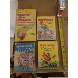 CARTOON BIG LITTLE BOOKS (QTY 3) & DENNIS THE MENACE