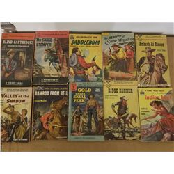 ASSORTED WESTERN PAPERBACKS (QTY 10)