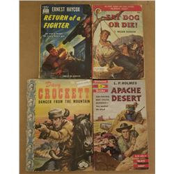 ASSORTED WESTERN PAPERBACKS (QTY 4) *INCL. DAVEY CROCKETT*