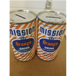 COIN BANKS (MISSION ORANGE 12 OZ.) *QTY 2*
