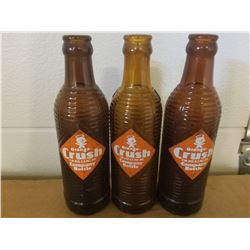 CRUSH BOTTLES (BROWN 6 OZ) *QTY 3*