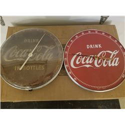 THERMOMETERS (COKE) *12 ROUND* (QTY 2) *1 WORKING, 1 GLASS, 1 GOOD FACE*