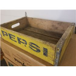 WOODEN CRATE (PEPSI COLA) *NO DIVIDERS*