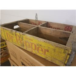 WOODEN CRATE (DR. PEPPER) * 4 - 6 PACK*