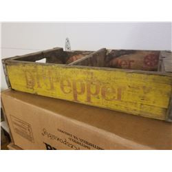 WOODEN POP CRATE (DR PEPPER)