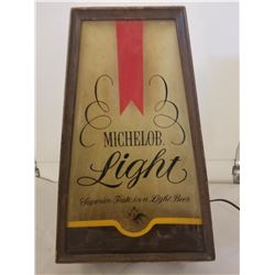 """BEER SIGN (MICHELOB) *WORKING, LIGHTS UP 16""""*"""