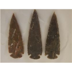 """FIELD STONES (SHARP, POINTY) *QTY 3* (4"""" LONG, VERY GOOD CONDITION)"""