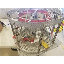ERECTOR SET MERRY-GO-ROUND (PREASSEMBLED) *WORKING MOTOR*