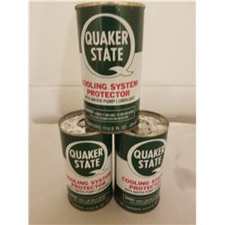 LOT OF 3 QUAKER STATE COOLING SYSTEM TINS *UNUSED 11 OZ*