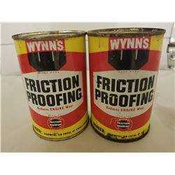 LOT OF 2 WYNNS FRICTION PROOFING TINS *UNOPENED 14 OZ*