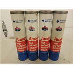 LOT OF 4 GREASE CARTRIDGES (AMOCO) *NEW OLD STOCK*