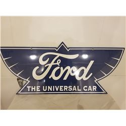 "HEAVY GAUGE CAR SIGN (FORD UNIVERSAL) *REPRO* (34"" X 14"")"