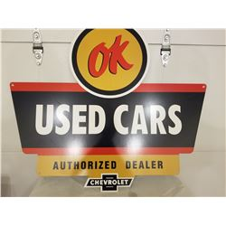 "USED CAR SIGN (CHEVROLET USED OK CARS) *REPRO* (HEAVY GAUGE 34"" X 30"")"