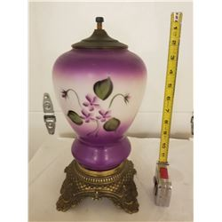ELECTRIC LAMP BASE (HAND PAINTED)