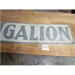 """TIN SIGN (GALION) *21"""" X 7""""*"""