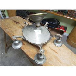 BRASS LIGHT FIXTURE (NICE FOR ITS AGE (SHOULD BE REWIRED)