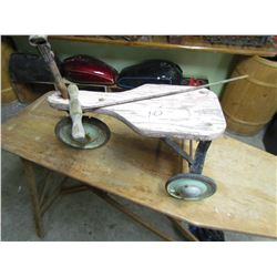 WOODEN TRICYCLE (METAL WHEELS) *RESTORE PROJECT*