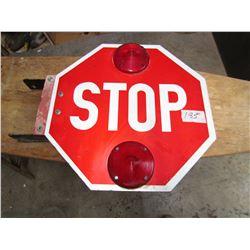 "STOP SIGN (W/REFLECTORS & BRACKET) *18""*"