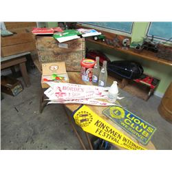 WOODEN CRATE (CANADA DRY) & COLLECTIBLES