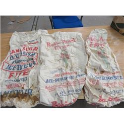 LOT OF 3 (2 ROBIN HOOD & 1 BC SUGAR) COTTON BAGS