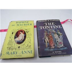 2 HARD COVER BOOKS (W/JACKETS) 'MARY ANN' (DAPHNE DU MAURIER) & 'THE TONTINE' *BOOK 3 CONT'D, 4, 5 &