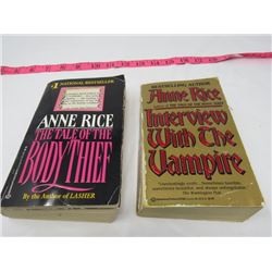2 ANN RICE POCKET NOVELS 'THE TALE OF THE BODY THIEF' & 'INTERVIEW WITH THE VAMPIRE'