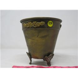ICE BUCKET (COPPER, FOOTED)