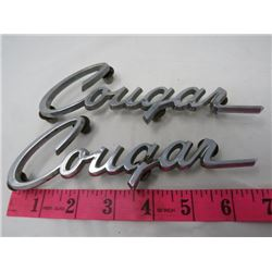 LOT OF 2 CAR EMBLEMS (COUGAR)
