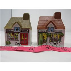 SALT & PEPPER SHAKERS *VILLAGE STORES*  (VINTAGE)