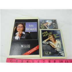 LOT OF 7 - CASSETTE TAPES (4 NANA MOUSKOURI, 3 ANNE MURRAY) *READER'S DIGEST*