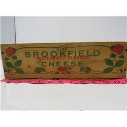 "WOODEN CHEESE BOX (12""T X 4 "" W 3 ½"" T) *SWIFT CANADIAN COMPANY*"