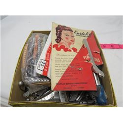 LOT OF HAIR STYLING (VINTAGE) *HAIR CURLERS, COMBS, CURLER, CLIPS ETC*