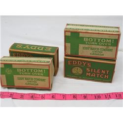 LOT OF WOODEN MATCH EMPTY CARDBOARD BOXES (EDDIES SILENT MATCH)