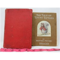 LOT OF 2 BOOKS 'TOM BROWN'S SCHOOL DAYS' (THOMAS HUGHES) 'THE TALE OF TIMMY TIPTOES' (BEATRIX POTTER