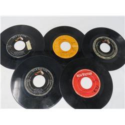 ELVIS 45 RPM RECORDS (QTY 5)