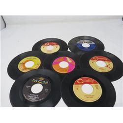 45 RPM RECORDS (QTY 7)
