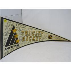HOCKEY PENNANT (TRI CITY AMERICANS) *1990-91*