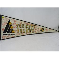 HOCKEY PENNANT (TRI CITY AMERICANS) *1994-95*