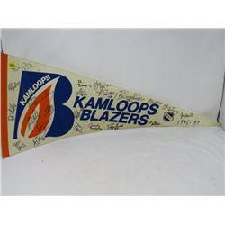 HOCKEY PENNANT (KAMLOOPS BLAZERS) *1996-97*