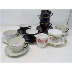LOT OF 3 CUPS & SAUCERS (GE GERMANY, BCCP & VALE)