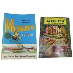 LOT OF 2 (MONARCH, FARM & HOME IMPROVEMENT) *1963 & HOW TO BUILD DECKS