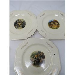 SET OF 4 OLD COUNTRY SCENE PLATES