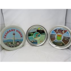 LOT OF 3 TRAYS (MANITOU BEACH, ESTERHAZY, CALGARY TOWER)