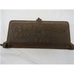 CAST MOWER LID (FROST & WOODS), *SMITH'S FALLS, CANADA*
