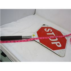 HAND HELD SIGN (2 SIDED) *STOP & SLOW*