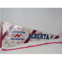HOCKEY PENNANT (LETHBRIDGE HURRICANES 1993-1994)